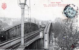 CPA - PARIS - Voie Aérienne Du Métropolitain Prise De La Station Aubervilliers - Metro, Stations