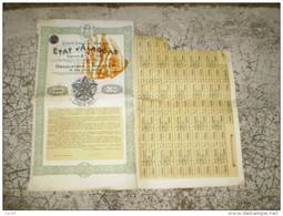 Action: Etat D'Alagoas ; Brésil 5 % Or 1906 ; Titre De 500 Francs ; Estados Unidos Do Brazil - Actions & Titres