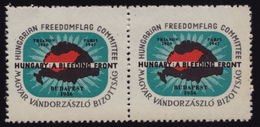 HUNGARICA 1956 USA  Hungary Exile LABEL CINDERELLA VIGNETTE - MNH - Trianon Revisionism / Revolution / Map Freedomflag
