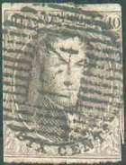 N°10 - Médaillon 10 Centimes Brun Foncé, Touché, Obl. D.134 MOORSLEDE Idéalement Apposée. Bonne Frappe. Rare. - B - 1178