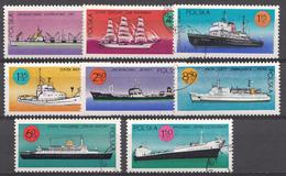 Bulgarie 1971 Mi.Nr: 2050-2057 Schiffe Unter Polnische Flagge Oblitèré / Used / Gebruikt - Bulgarien