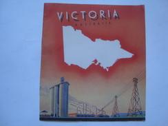VICTORIA - AUSTRALIA 1947 APROX. TOURISM VICTORIA RAILWAYS.  23X20 CM. 16 PAGES. - Dépliants Touristiques
