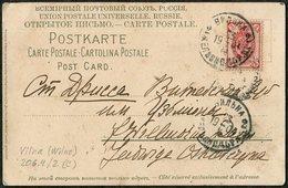 Russia Russland Russie 1904 Postcard Lithuania Litauen Poland VILNA Wilno Railway Station Bahnhof Gare > Drissa 206.4 - 1857-1916 Impero