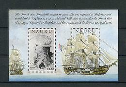 Nauru 2005 MNH Battle Of Trafalgar 200th 1v S/S Admiral Villeneuve Ships Stamps - Militaria