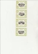 VIGNETTES ESPERANTO - 10 E CONGRES UNIVERSELLE - BANDE DE 4  CHATEAUX DE LA LOIRE - ANNEE 1914 - Commemorative Labels