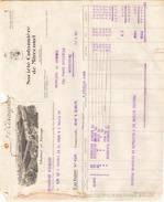 Facture L'Araignee Societe Cotonniere De Mirecourt  Filature Et Tissage Le 5 Fevrier 1926 - Textile & Vestimentaire