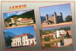 Cpsm  -   Jarrie - La Mairie ,la Gare ,le Chateau Bon Repos       S242 - France