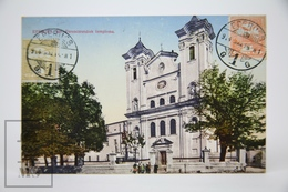Old Postcard Slovakia - Esperjes - Church Of Franciscan Order - Animated - Posted 1914 - Eslovaquia