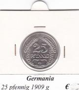 GERMANIA  25 PFENNIG 1909 LETTERA G  COME DA FOTO - [ 2] 1871-1918 : Imperio Alemán