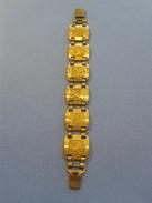 Bracelet Ethnique De Métal Dorée - Diamétre 6x6 - Ethnics