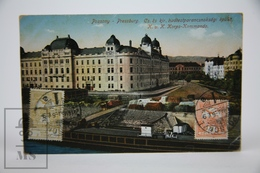 Old Postcard Slovakia - Bratislava - Pressburg - Buildings Construction - Posted 1914 - Eslovaquia
