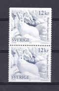 ANIMALS - HARE LEPUS TIMIDUS - SWEDEN 2009 MNH PAIR LIÈVRE LIEBRE HASE Naszarkowski