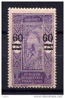 DAHOMEY - N° 66** - LE PALMISTE SURCHARGE