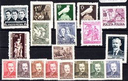POLOGNE . N° 565/584 **. Année Complète 1950 . 17 Timbres . LUXE - Ungebraucht