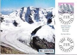 Piz Palü 1970: Maxikarte Mit Zu 486 Mi 931 Yv 866 Mit ET-o BERN 17.9.70 (Zu CHF 20.00)