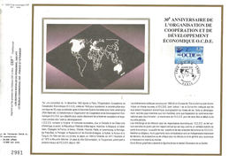 1990 FEUILLET CEF SUR SOIE - 30 ANS DE L'OCDE