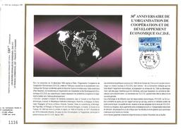 1990 FEUILLET CEF EN OFFSET - 30 ANS DE L'OCDE