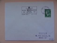 150 ANS CAISSE D'ÉPARGNE DE LYON  2e ARR. - Marcophilie (Lettres)