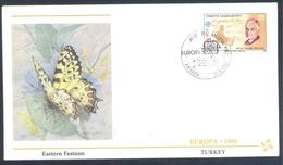 Turkey 1985 Cover: EUROPA CEPT Music: Fauna Butterfly Schmetterling Papillon; Eastern Festoon (Allancastria Cerisyi) - Schmetterlinge