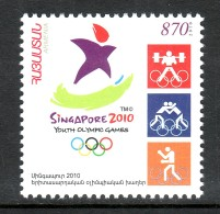 Armenien / Armenie / Armenia 2010, Mi 717 Youth Olympic Games. Singapore, Boxing, Weightlifting, Wrestling - MNH ** - Summer 2010 : Singapore (Youth Olympic Games)
