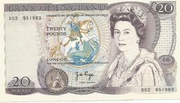 Billet 20 Pounds Apres 1952 - 1952-… : Elizabeth II