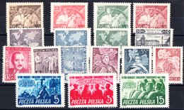 POLOGNE . N°548/564**. Année Complète 1949 . 17 Timbres. LUXE. - Ungebraucht