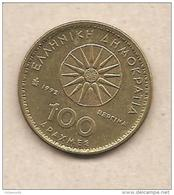 "Grecia - Moneta Circolata Da 100 Dracme ""Alessandro Magno"" - 1992 - Grèce"