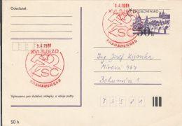 60014- PRAGUE CASTLE, POSTCARD STATIONERY, 1981, CZECHOSLOVAKIA