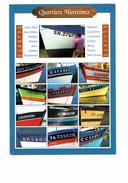 Cpm - Quartiers Maritimes - SAINT BRIEUC MALO SM BREST VANNES CONCARNEAU CC LORIENT DOUARNENEZ DZ Lettres Alphabet - France
