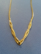 Collier Ancien De Plaqué Or - Longueur 22cm - Collares/Cadenas