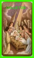 IMAGES RELIGIEUSES - JÉSUS DANS LA CRÈCHE AVEC 5 ANGES - N.B. No 1024 - 1934 N.G. BASEVI - - Images Religieuses