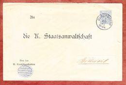 Dienstbrief, Landjaegerstation, EF Ziffer, Blaubeuren Nach Rottweil, AK-Stempel 1903 (37982) - Wurttemberg