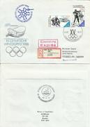 """DDR 3143-3144 MiF """"Eil-Einschreibe-Brief.Olympische Winterspiele Calgary ´88"""" Sonderstempel Mi.-Preis 6,50 €"""