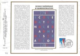 1995 FEUILLET CEF SUR SOIE - 50 ANS DE L'ENA - Profesiones