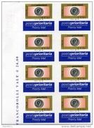 2004 Italia €0,60 Non Dentellato - Blocco Di 8 Con Bordo ** - Variétés Et Curiosités