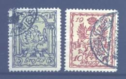 1915, WARSAWA, Used, Complete Set, Michel Catalog No. 1b/2b, 9,9 Euro