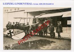Avion ADLER-B.660/14-Leipzig-LINDENTHAL-CARTE PHOTO Allemande-Guerre-14-18-1 WK-Militaria-Aviation-Fliegerei- - Leipzig