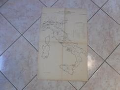 ARTE MILITARE MAPPA CARTINA 1°CORSO DISTRIBUZIONE DELLE FORZE DI PACE 1909 - Mappe
