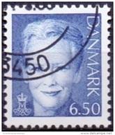 DENEMARKEN 2008 6.50kr Margrethe II Blauw GB-USED
