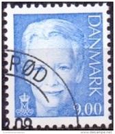 DENEMARKEN 2009 9.00kr Margrethe II Blauw GB-USED