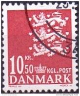 DENEMARKEN 2009 10.50kr Rijkswapen Rood GB-USED
