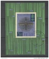 Pologne  Poland Polen Polska  Bloc Feuillet ° Oblitéré YT  34 Malaria  Insecte