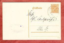 Wuerttemberg DP 45/01, Riedlingen Nach Ulm 1916? (37992) - Ganzsachen