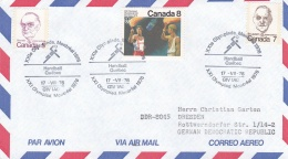 Canada 1976 Cover Montreal Olympic Games - Quebec Handball (T15-25)