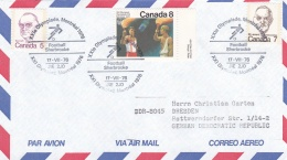 Canada 1976 Cover Montreal Olympic Games - Sherbrooke Football  (T15-25)