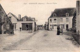 V9367 Cpa 53 Chemazé - Place De L'Eglise - Ambrieres Les Vallees