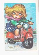 PLEIN GAZ.- Petite Fille Moto.- (2) - Other Illustrators