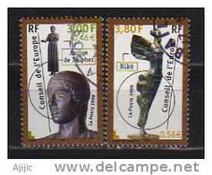 Conseil De L´Europe  Yv. #  120/1  Oblitérés  (sculptures De La Grèce)  Année 1999 - Service