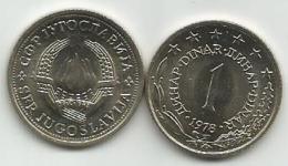Yugoslavia  1 Dinar 1978. UNC KM#59 - Yugoslavia