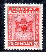 XP2039 - ALBANIA , Segnatasse  Yvert N. 31  *** - Albania